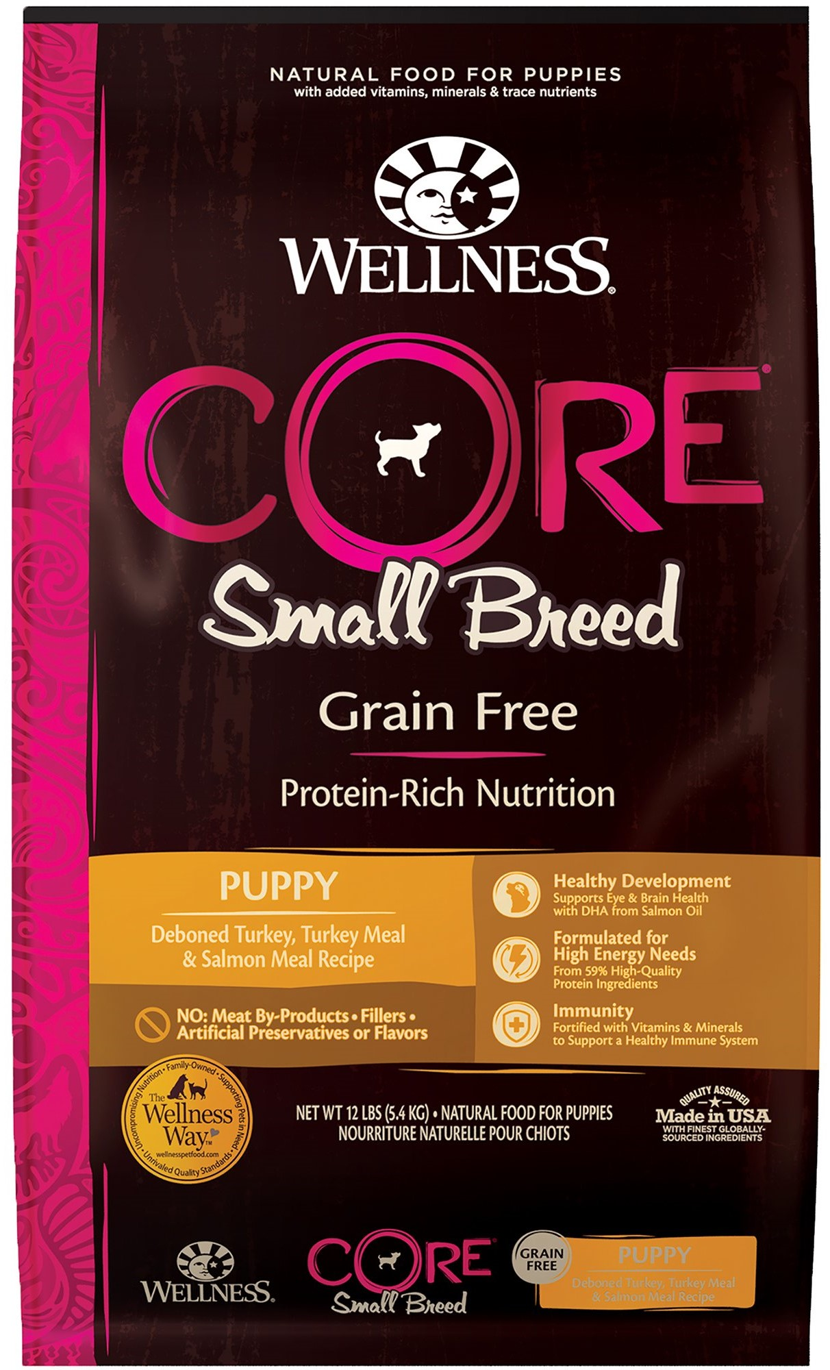 photo of the Wellness Core Natural Grain Free Dry Dog Food