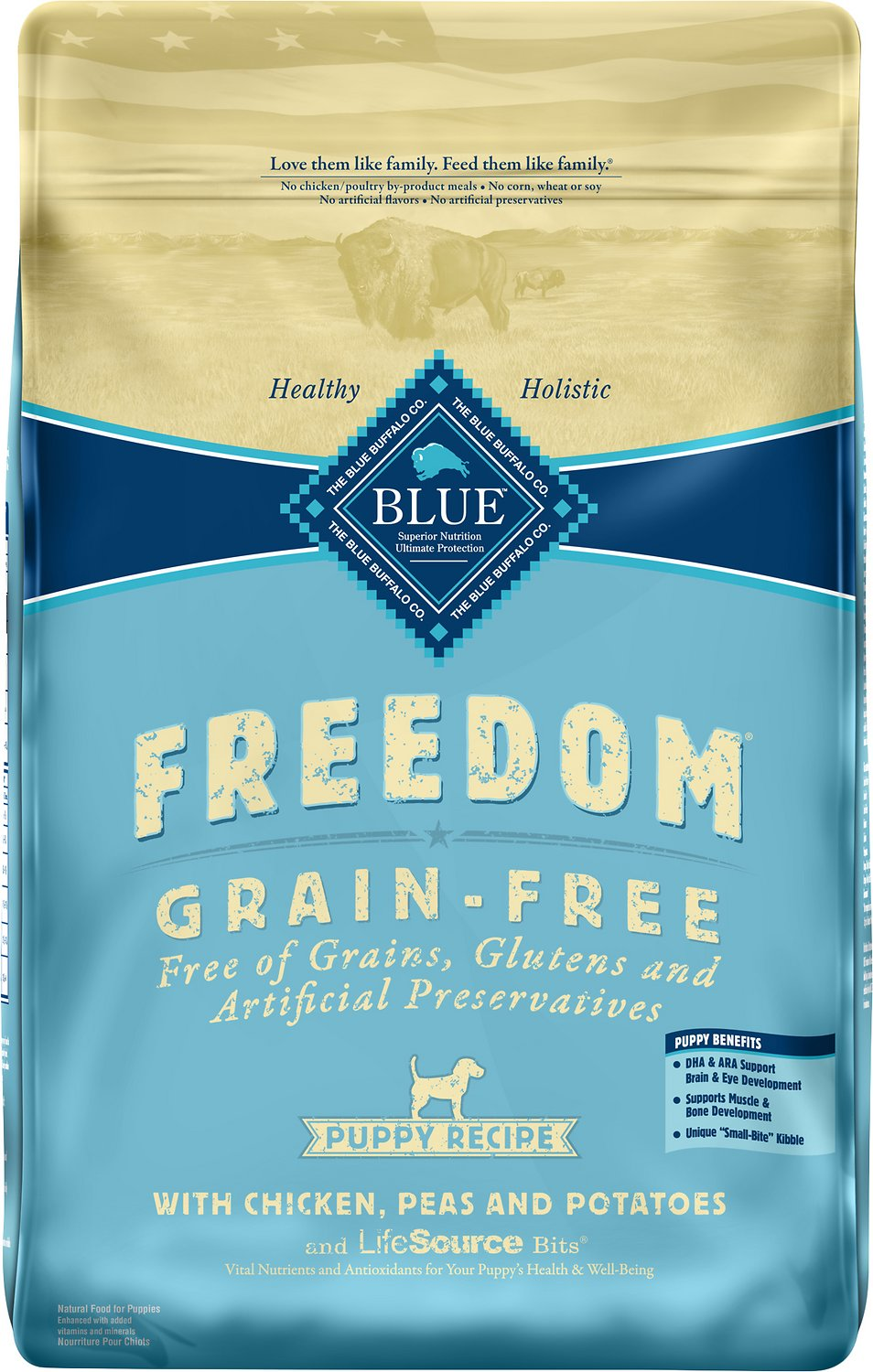 photo of the Blue Buffalo Freedom Grain Free Natural Puppy Dry Dog Food